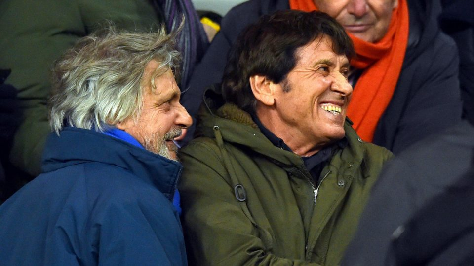 Ferrero scherza con Morandi prima della partita