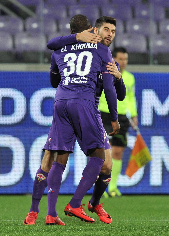 Babacar festeggia: ha appena siglato l'1-0