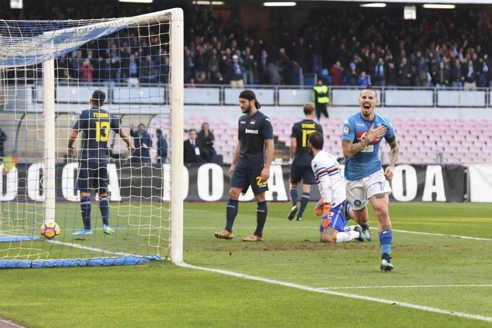 Hamsik segna il 3-2 e diventa il miglior bomber della storia del Napoli (116 reti)