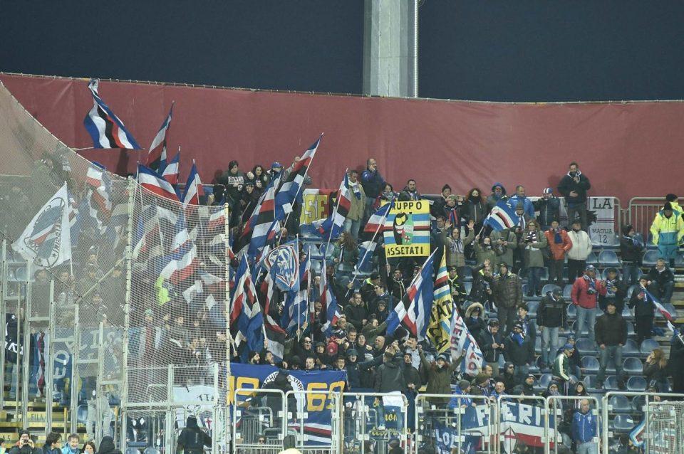 I tifosi blucerchiati alla Sardegna Arena