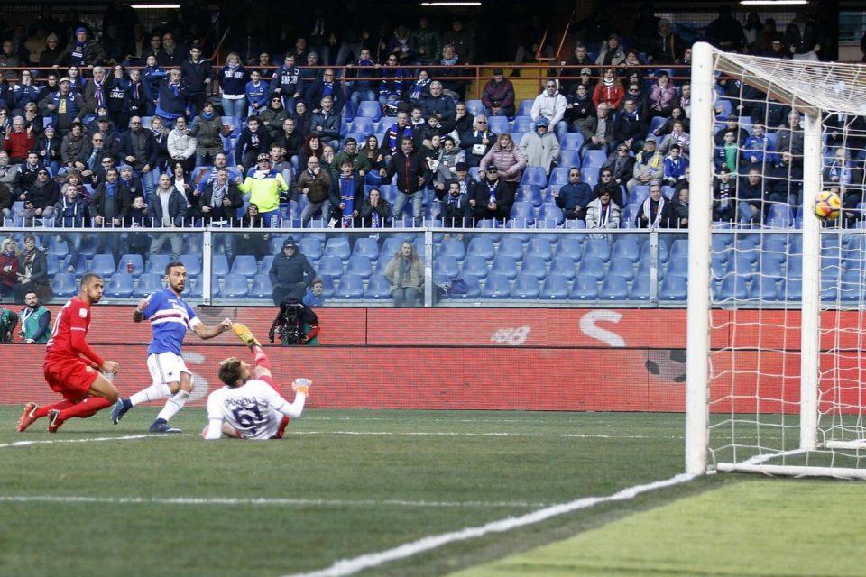 Il gol del 2-0 ancora di Fabio Quagliarella