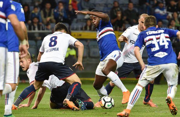 Zapata prepara il gol nell'azione finale