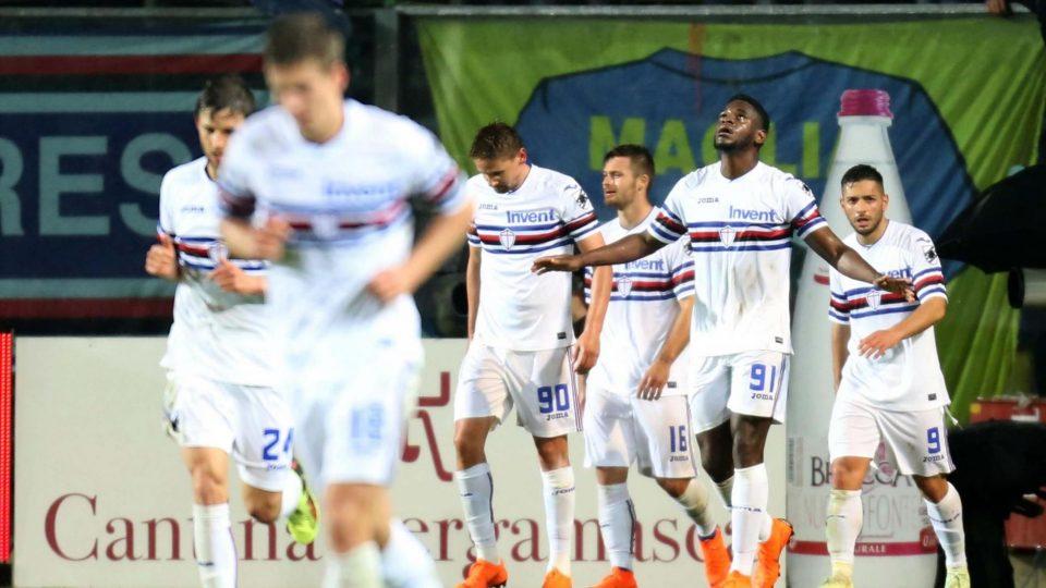 Zapata esulta dopo il gol-vittoria