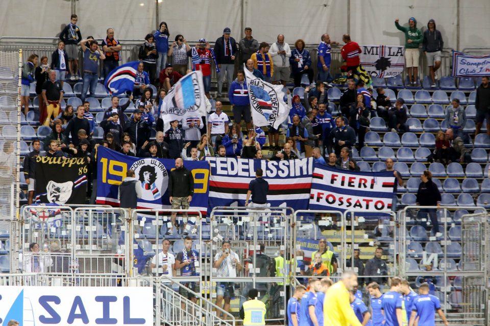 I tifosi della Samp giunti alla Sardegna Arena
