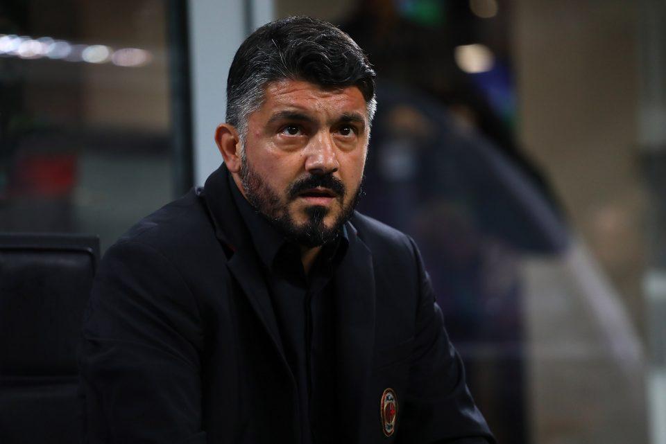 Il tecnico del Milan Gattuso: con questa vittoria salva la sua panchina