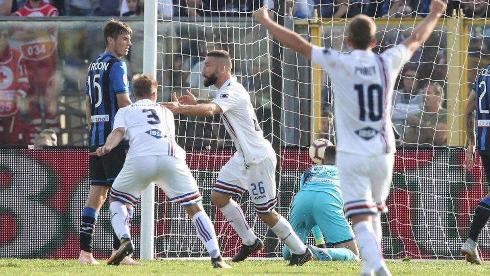 Tonelli festeggia dopo il gol: Doria avanti