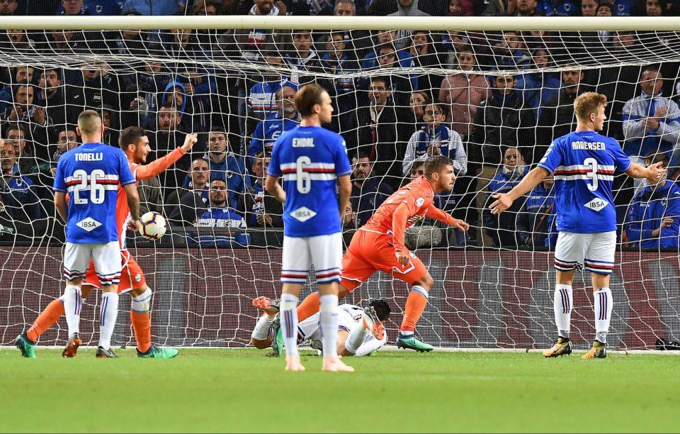 Paloschi esulta dopo il gol dello 0-1
