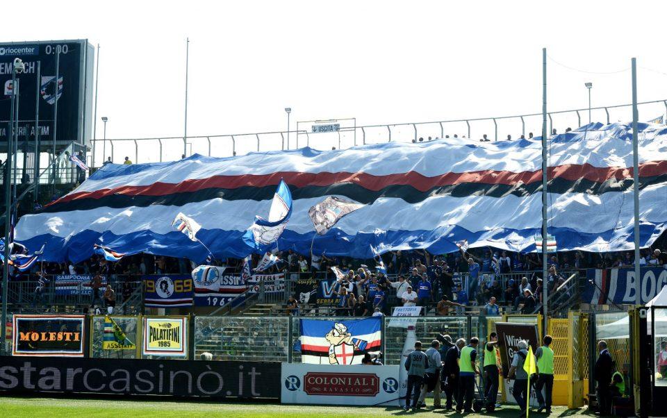 I tifosi della Samp a Bergamo