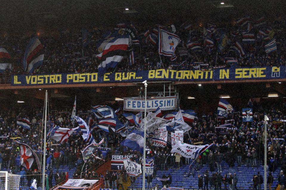 I tifosi doriani danno il benvenuto ai gemellati del Parma