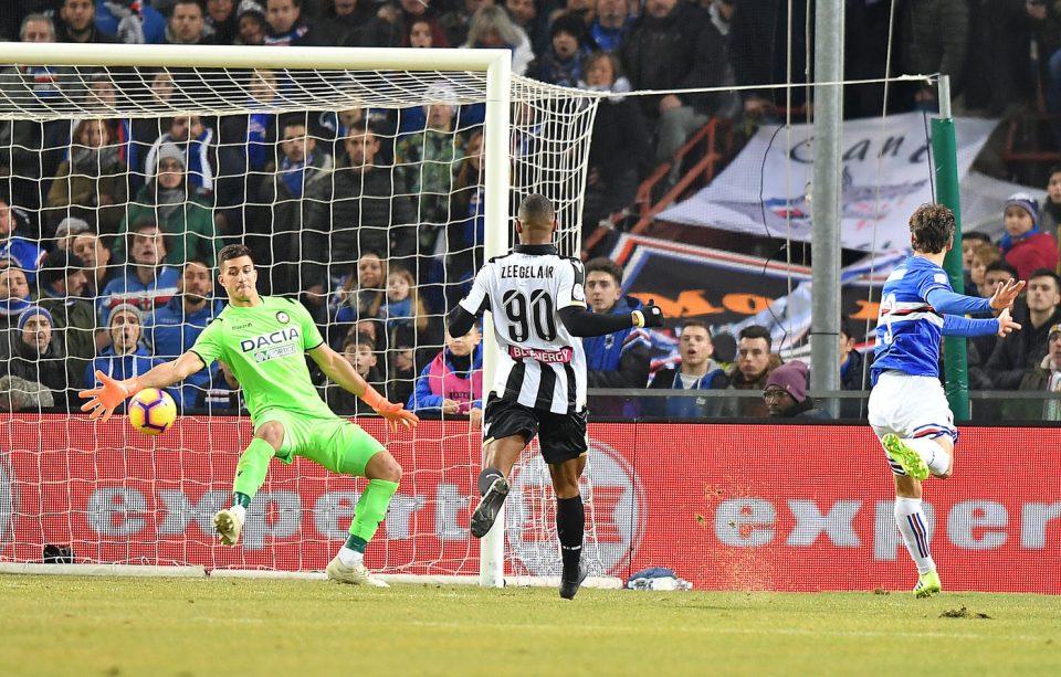 C'è gloria anche per Gabbiadini, al primo gol in questa seconda esperienza blucerchiata