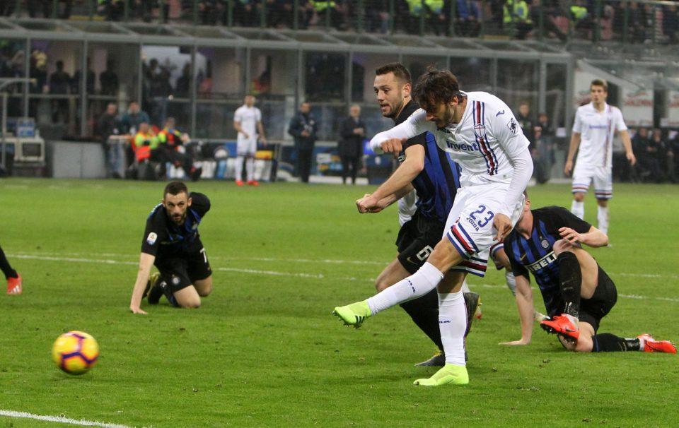 Gabbiadini, in campo da 25 secondi, segna l'1-1