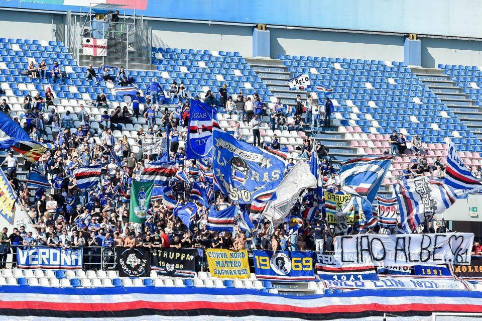 I tifosi doriani presenti a Reggio Emilia