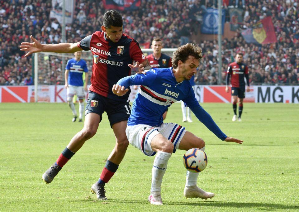 Gabbiadini prova a proteggere il pallone