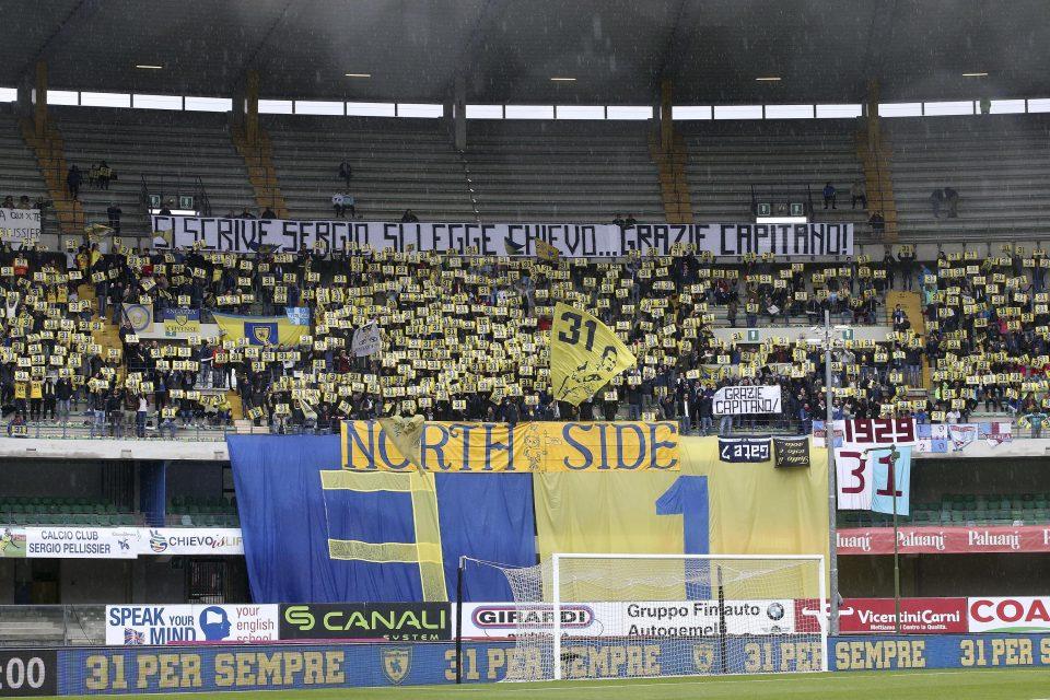 I tifosi del Chievo salutano il loro numero 31, Sergio Pellissier, che saluta la squadra dopo 17 anni