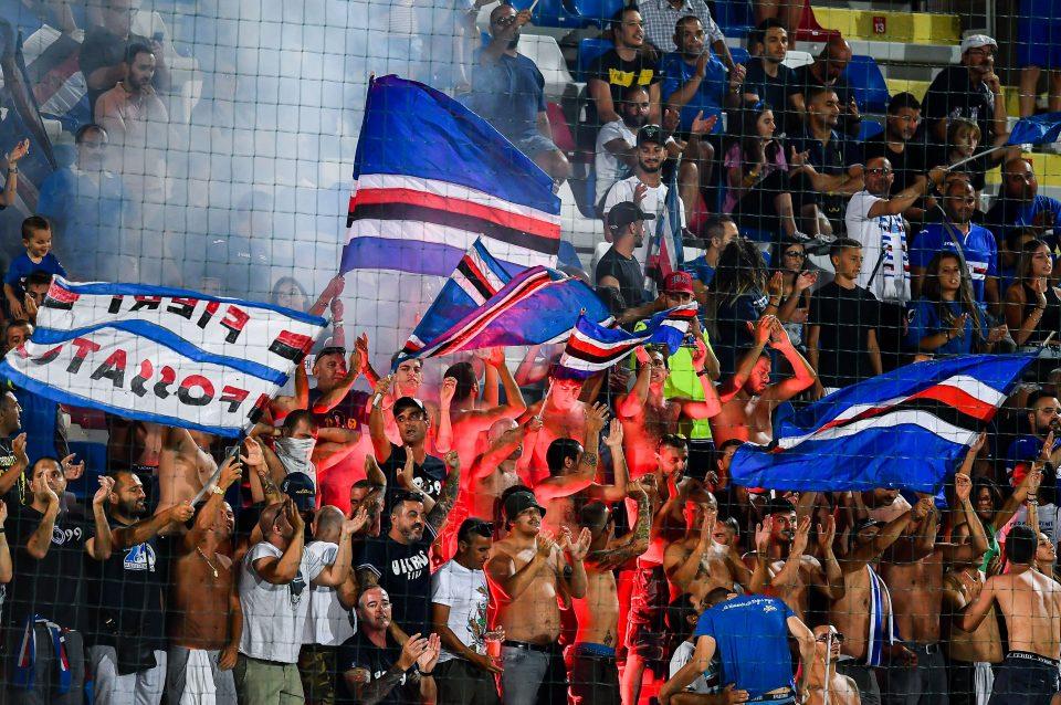 I tifosi della Samp giunti a Crotone