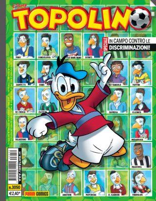 Topolino presenta la Serie A con delle particolari figurine per ogni squadra: in alto, si può vedere quella di Obiang