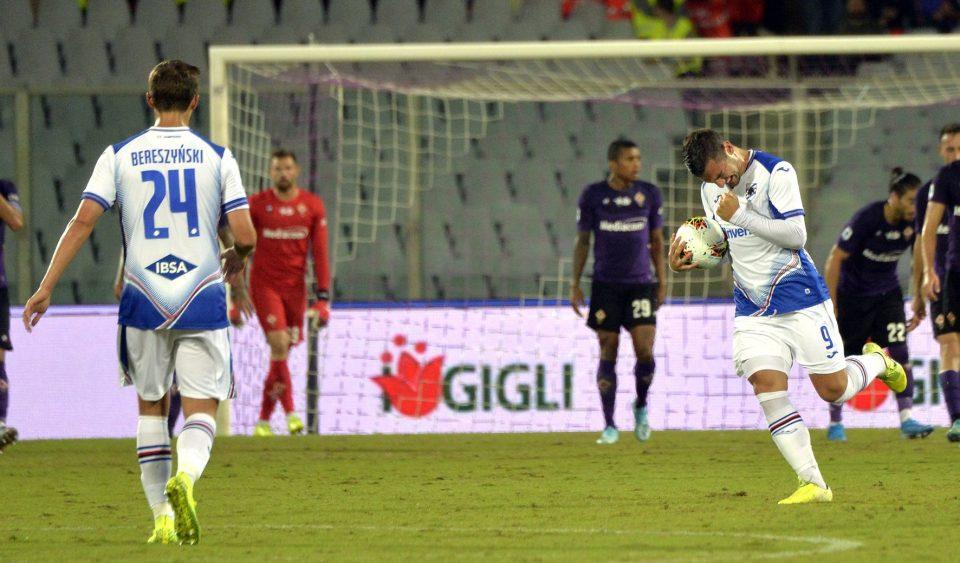 Bonazzoli festeggia il suo primo gol in Serie A