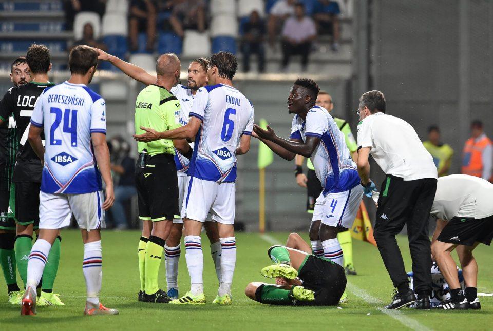Il momento dell'espulsione di Vieira