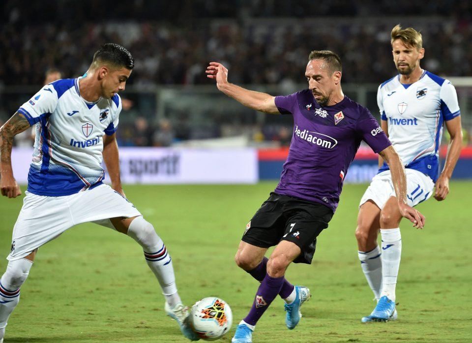 Ribéry cerca varchi nella difesa sampdoriana