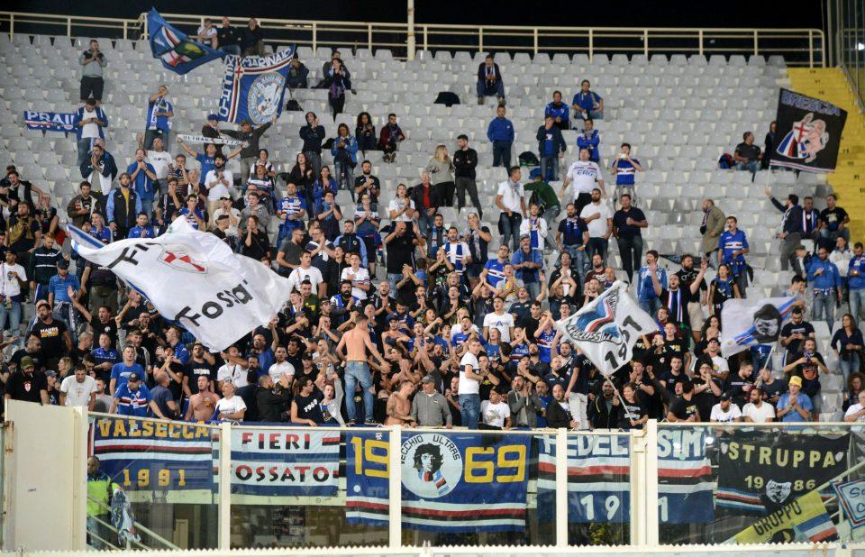 I tifosi della Samp presenti al Franchi