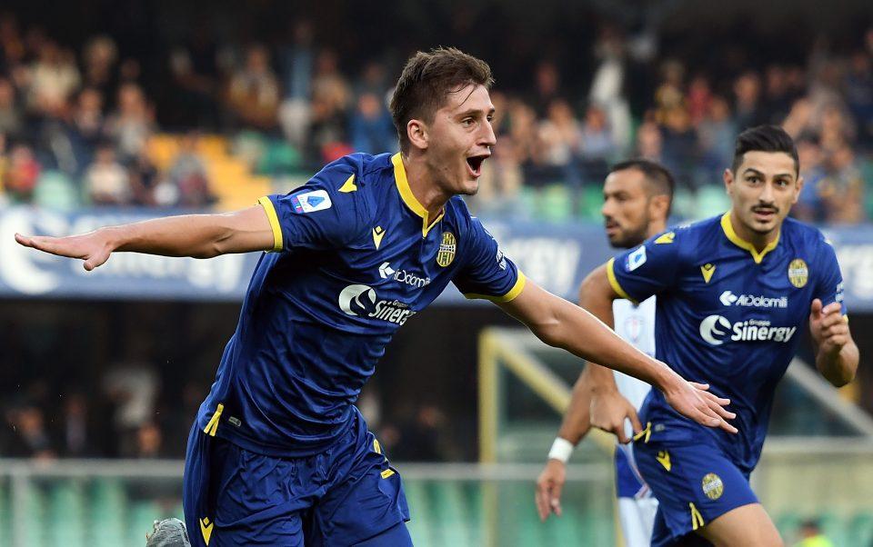 La gioia del difensore albanese