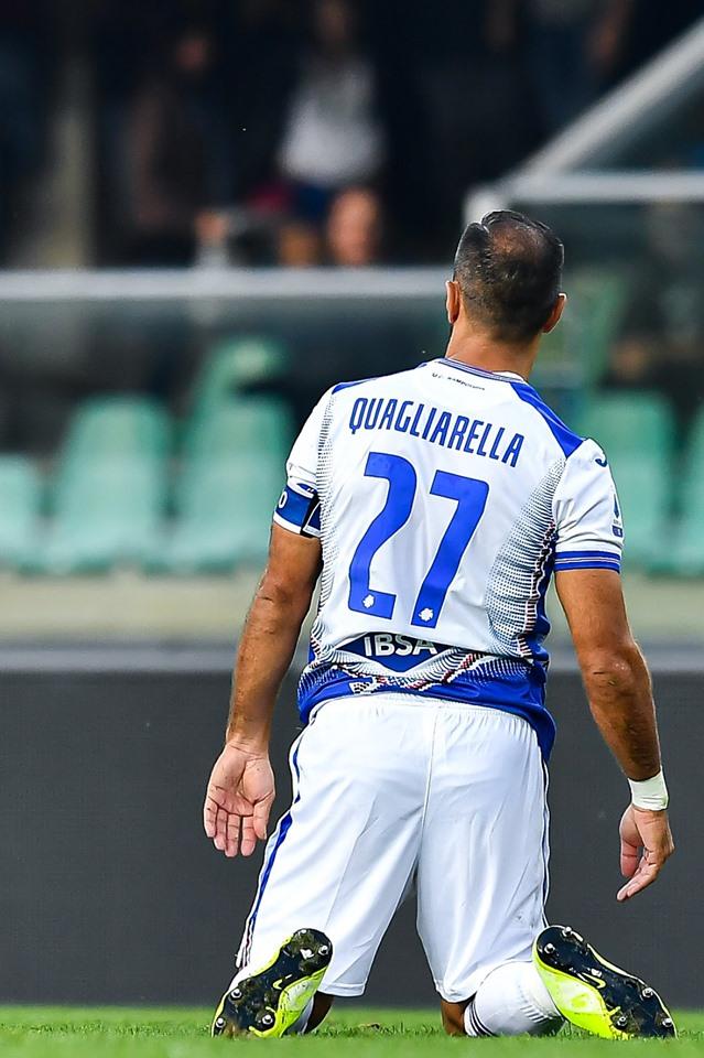 Quagliarella in ginocchio: altra giornata da dimenticare per il cannoniere della scorsa Serie A