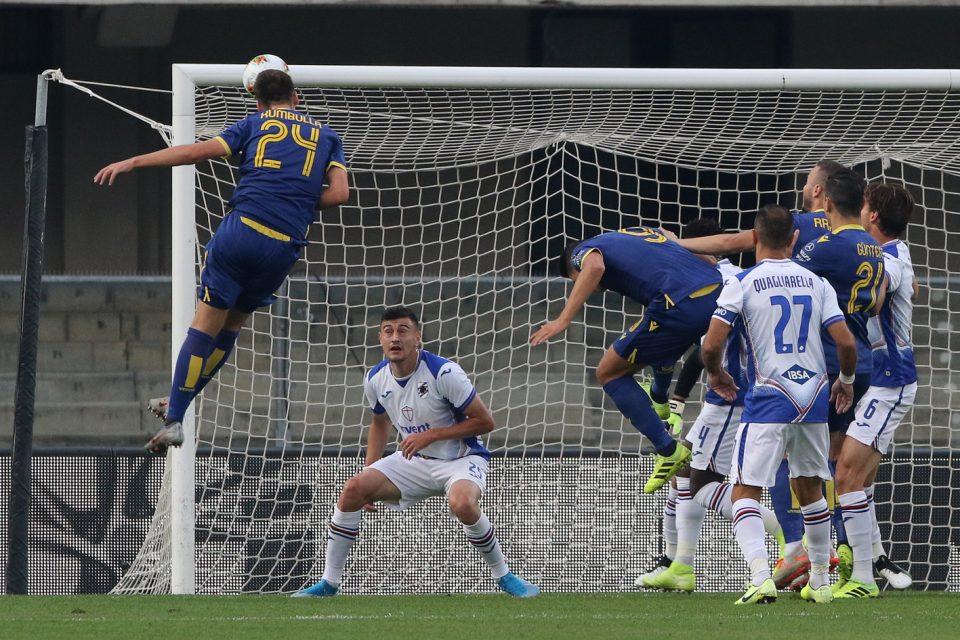 Kumbulla trova la rete dell'1-0: è il suo primo gol in Serie A