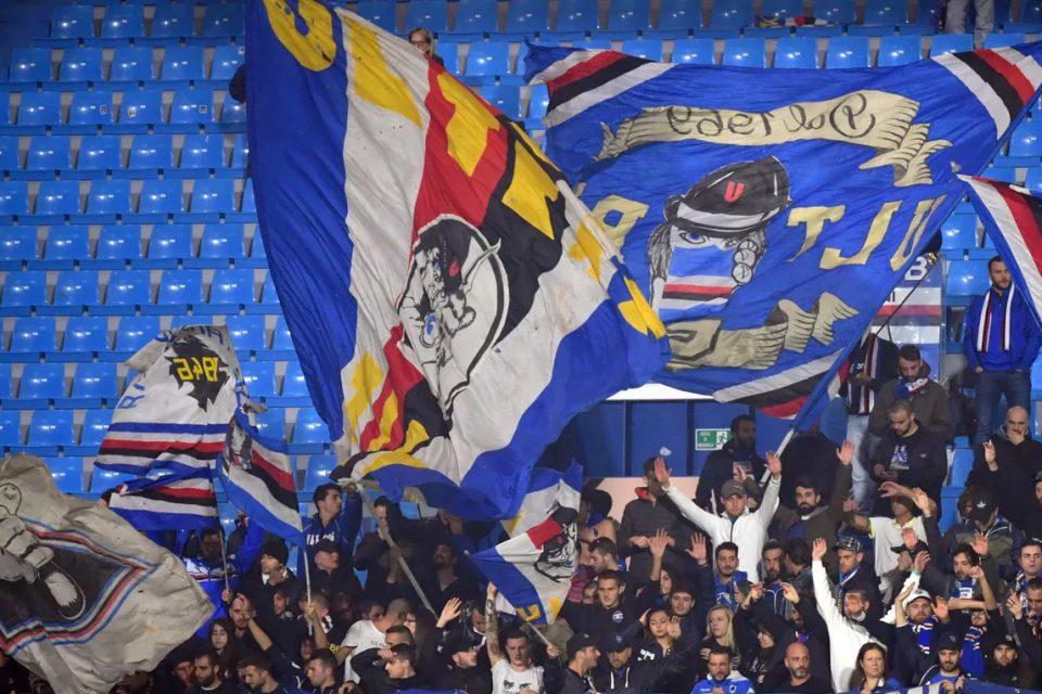 I tifosi sampdoriani presenti al Mazza