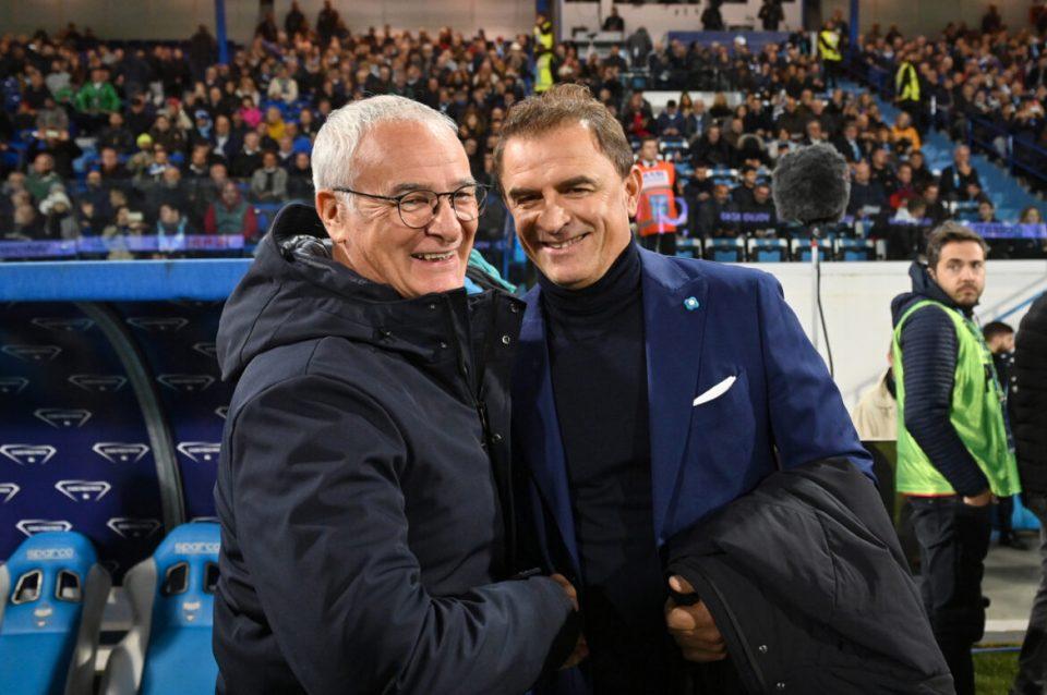 Il saluto tra Ranieri e Semplici