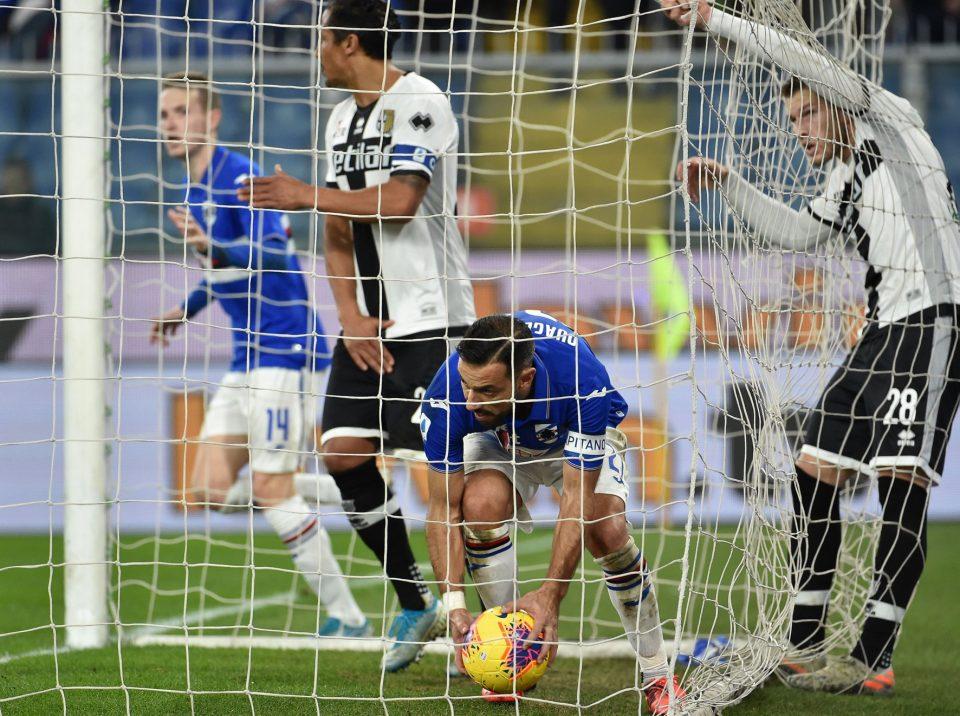 Sugli sviluppi dell'azione del rigore sbagliato, Quagliarella segna l'1-1 e va a prendere il pallone in fondo alla rete: il Var annullerà però il gol