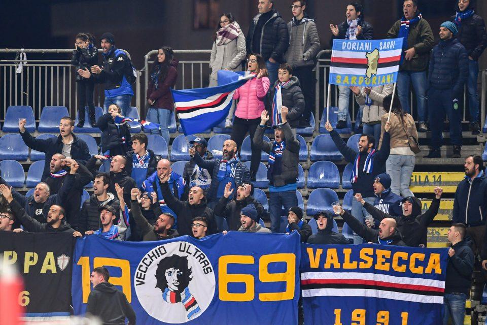 I tifosi della Samp presenti alla Sardegna Arena
