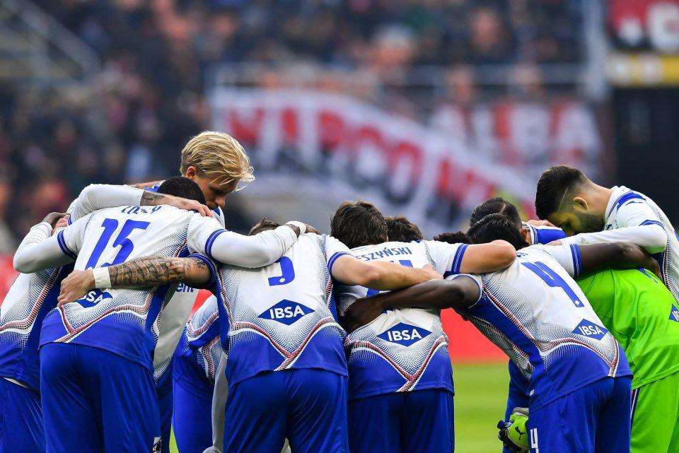 I calciatori sampdoriani cercano la concentrazione