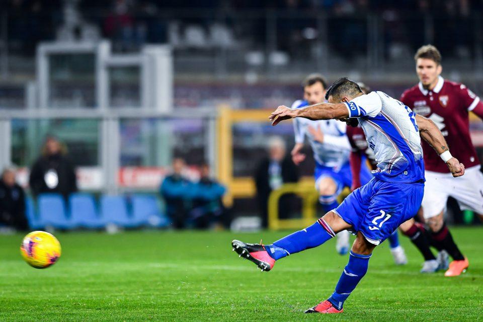 Quagliarella segna il gol dell'1-3 dal dischetto