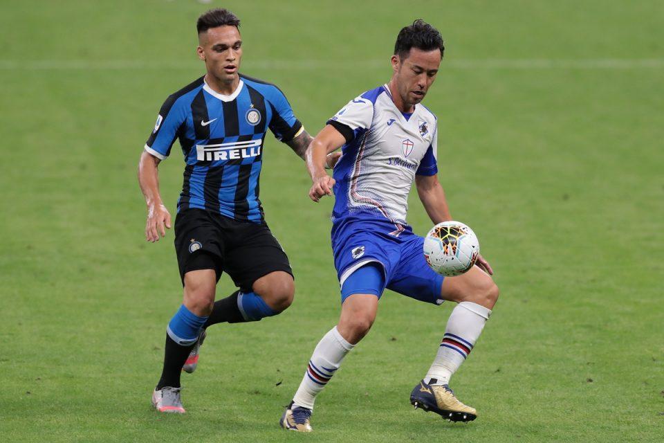 Yoshida protegge palla da Lautaro Martínez