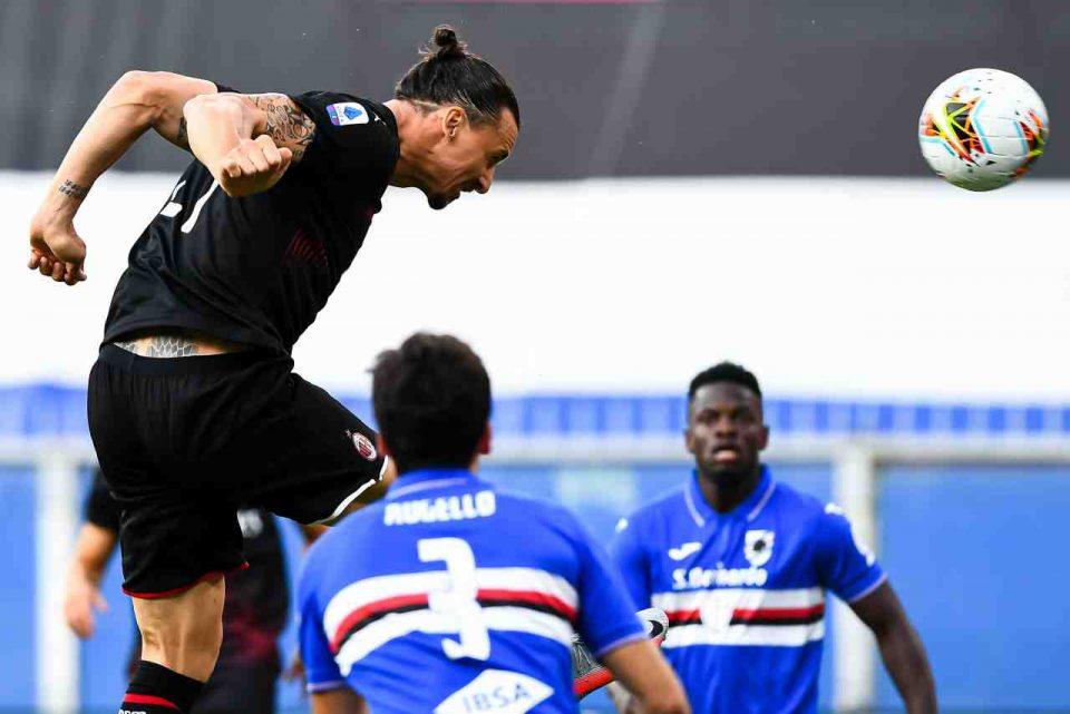 Gol di Ibra e Milan in vantaggio