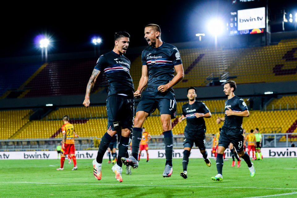 Festa blucerchiata dopo il gol del secondo vantaggio