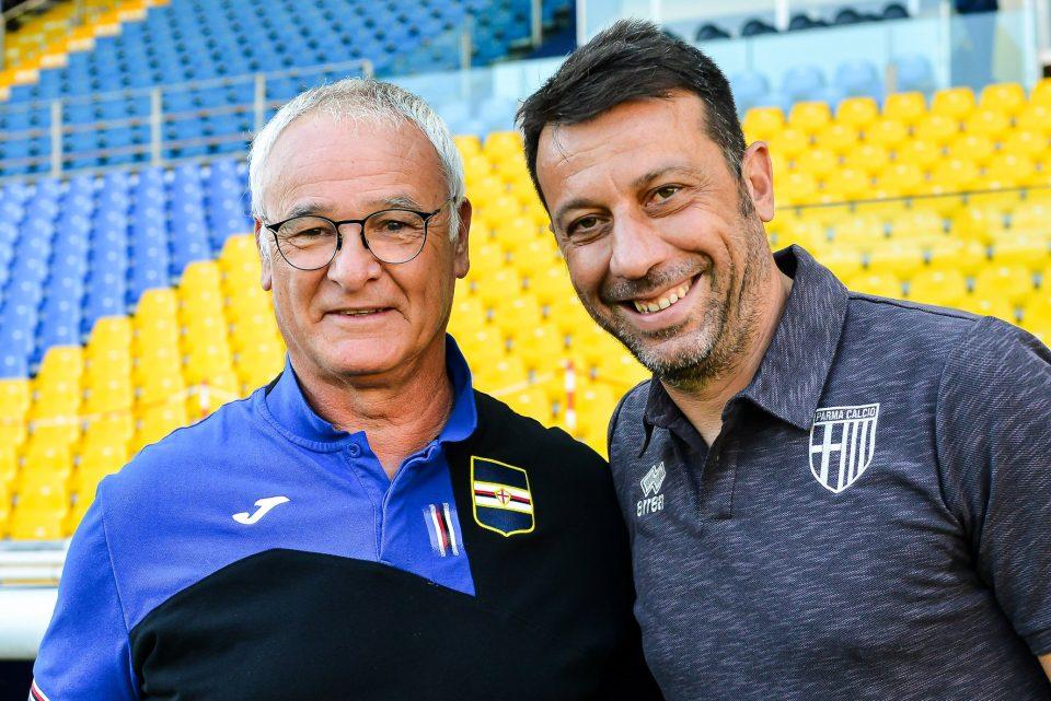 Ranieri e D'Aversa prima del match