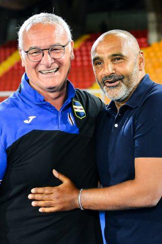 Ranieri e Liverani si salutano prima del via