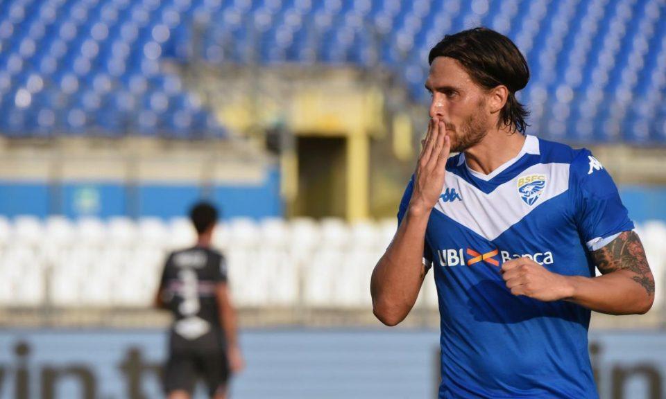Torregrossa, sette gol stagionali, esulta con un bacio