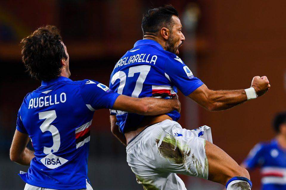 Augello e Quagliarella, assistman e marcatore del primo gol