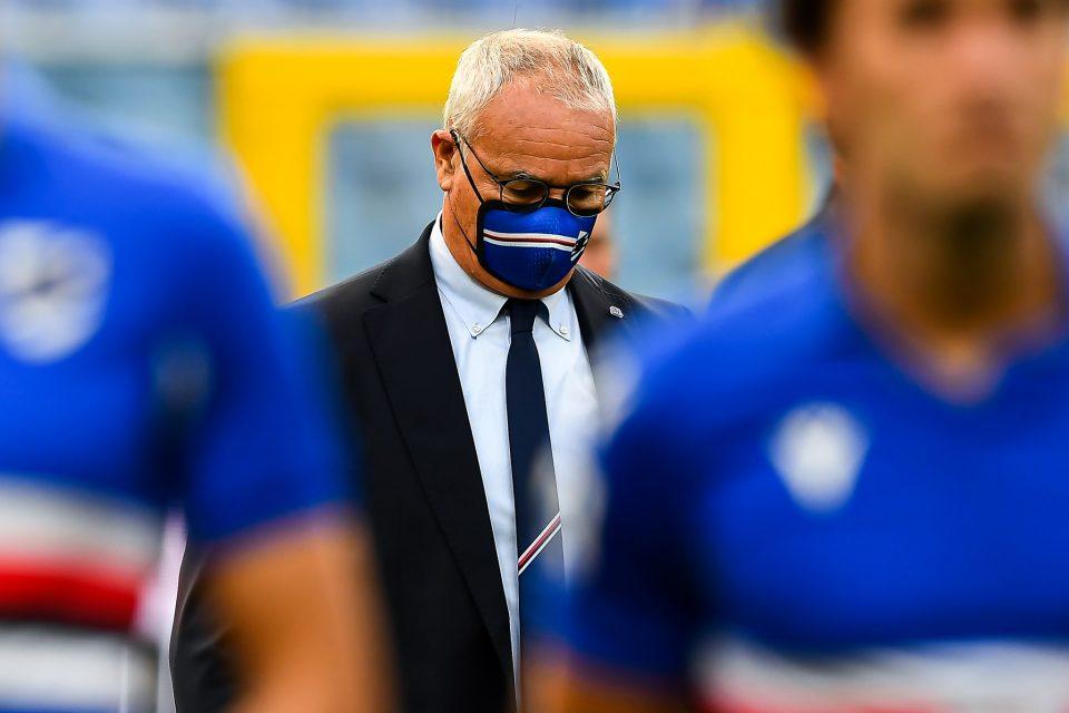Ranieri concentrato prima del via