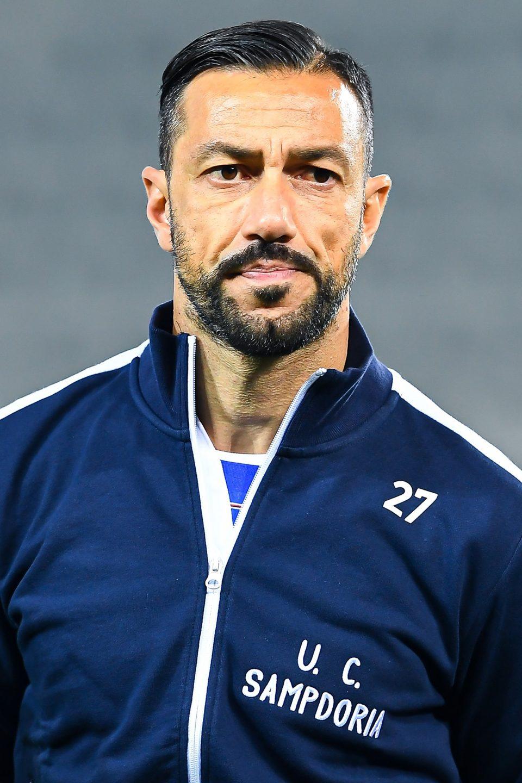 Fabio Quagliarella con la tuta rétro