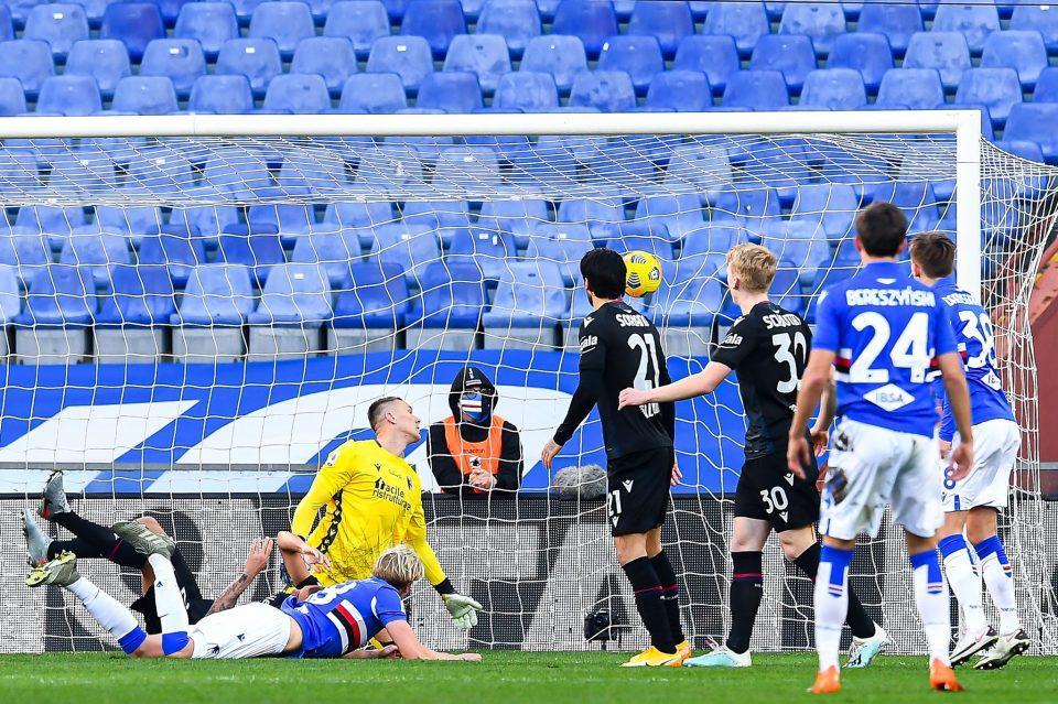 Il gol di Thorsby che illude la Samp
