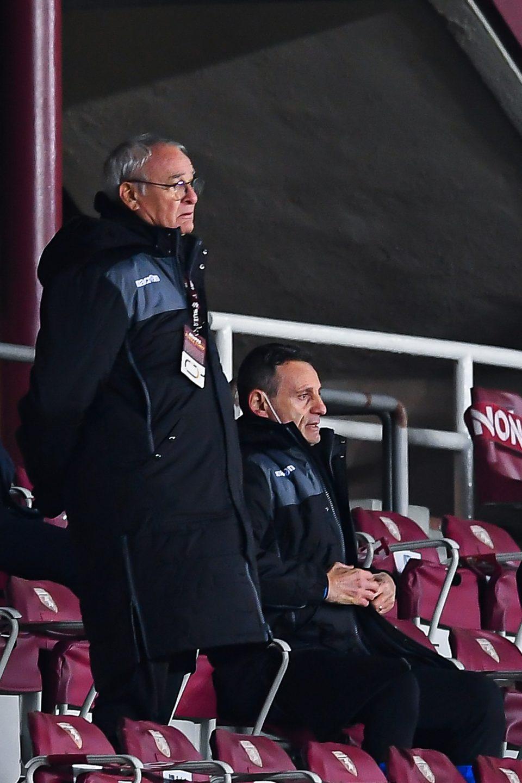 "Ranieri, squalificato, se ne sta ""in castigo"" in tribuna"