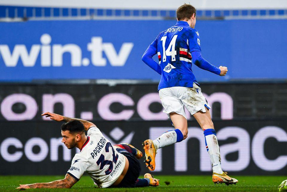 L'esultanza di Jankto subito dopo il gol del 2-0