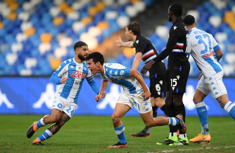 Lozano dopo il gol dell'1-1