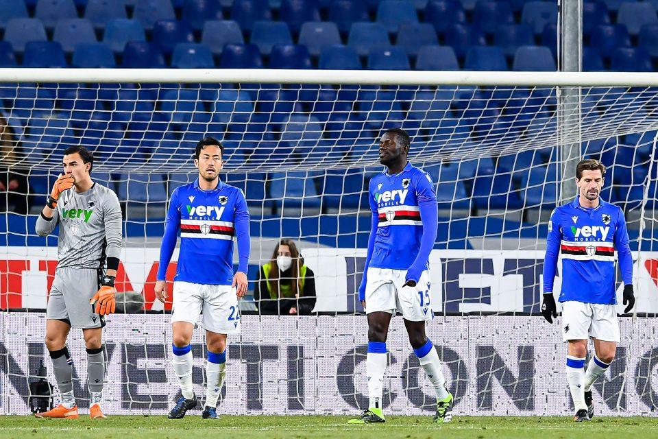 La delusione dei doriani al vantaggio dell'Udinese
