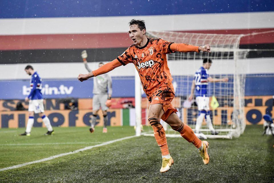 Federico Chiesa esulta dopo la rete dello 0-1