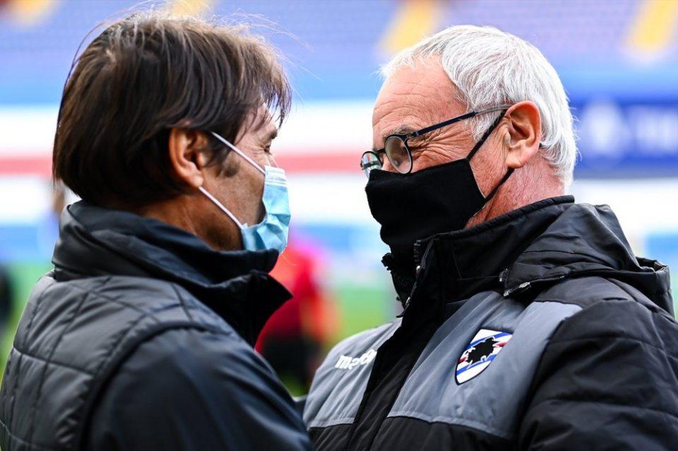 Ranieri e Conte si salutano prima del via
