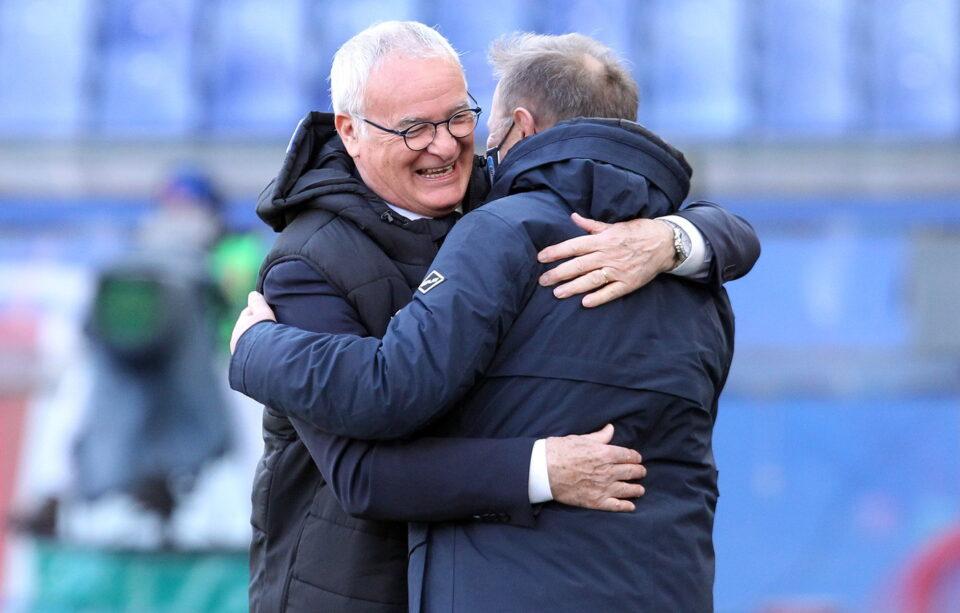 Il saluto tra Ranieri e Gritti